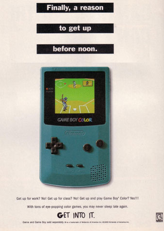 Publicité Nintendo 1996 Game Boy Color